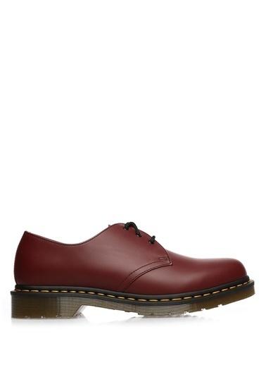 Dr. Martens %100 Deri Bağcıklı Klasik Ayakkabı Kırmızı